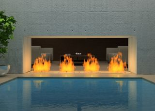 My Fireplace and Pool